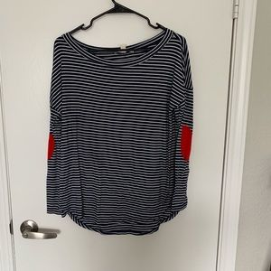 Tops - striped elbow patch top